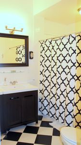 The Black and White Bathroom