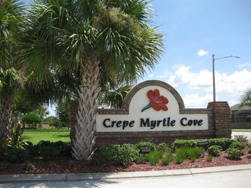 Entrance to neighbourhood - Crepe Myrtle is part of Crescent Lakes