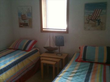 Bedroom with two twin beds. Sleeps 2