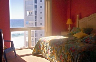 ANOTHER BEDROOM W/KING BED AND A VIEW OF THE BEACH  & GULF