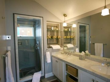 Master Bathroom: Steam Shower - Double Vanity Sinks