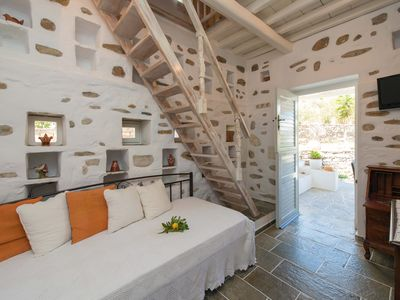 Peristerionas, a traditional two-floor building in the heart of Sifnos