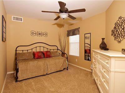 Tastefully decorated extra Bedroom w/ trundle bed, full-length mirror & Dresser