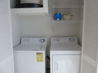 North Padre Island condo photo - Full size washer and dryer in unit