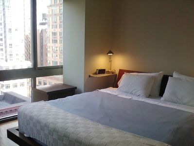 Bedroom with View and king-size firm bed