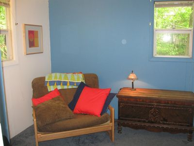 second bedroom with a single pull out futon