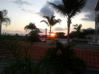 Providenciales - Provo studio photo - sunset from terrace level looking towards grace bay