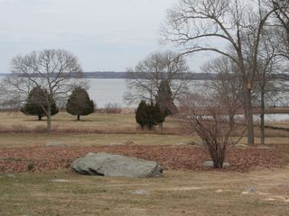 North Kingstown house photo - View of private beach and salt pond