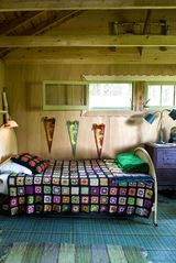 Stanfordville cottage photo - back bedroom with single bed + trundle