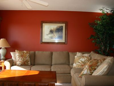 Amalfi Coast Resort condo rental - Family room. New sleeper sofa.