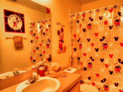 Mickey's bathroom for the little ones.