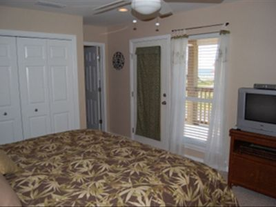 Master Bedroom with private bath and balcony overlooking views of the Sound