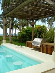 Las Terrenas house photo - Gas BBQ and built in pool bar