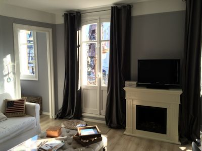 2 south-facing rooms with balcony in the heart of Deauville for 4 people