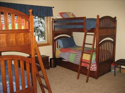 Fourth bedroom is a bunk room for the kids
