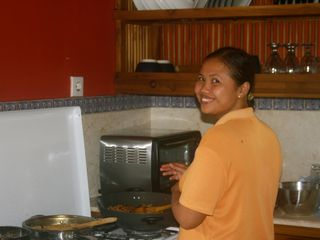 Sanur house photo - Wati, our lovely staff who will prepare b-fast, clean the house and do laundry.