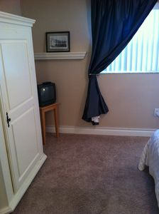 Armoire & TV in murphy bed room