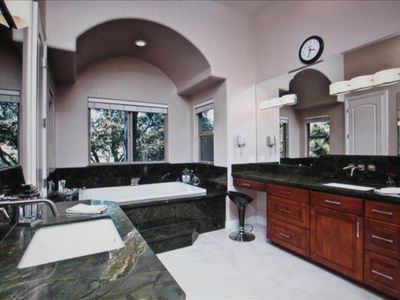 Beautifully designed master bathroom.