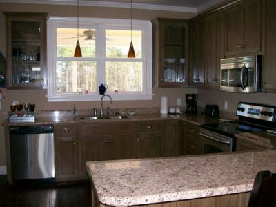 Taw Caw Creek house rental - Huge kitchen space!