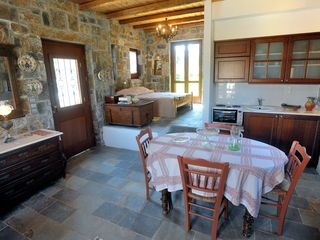 Gouves villa photo - Comfortable and spacious with kitchen and dinning table