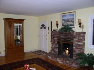 Monterey house photo - Antiques and fine art, remote controlled gas fireplace