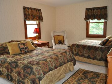 Bedroom 3, 2 full size beds, large closets