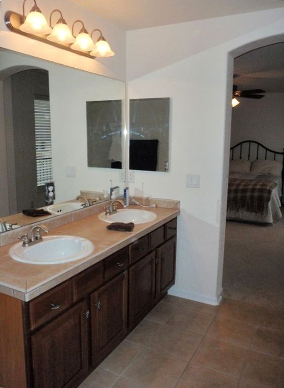 Master bath and bedroom