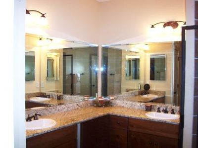 Tuckasegee cottage rental - Master Bath