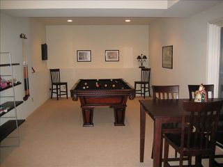 Big Boulder house photo - Recreation area with dart board, pool table, ping pong