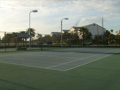Tennis court! Ask the front desk for a ball & racket.