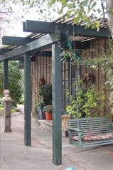 St Helena cottage photo - Entrance to cottage with swing