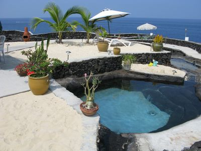 Milolii house rental - Natural Lava Pool