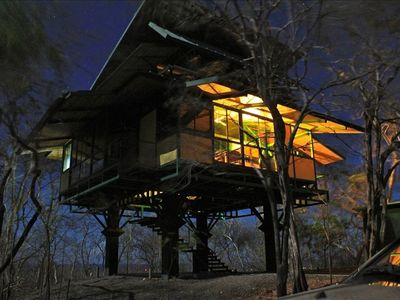 Playa Junquillal house rental - Treehouse at Night