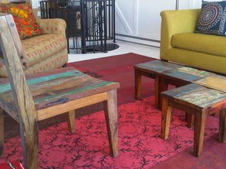 Peconic house photo - Decor of color-rich carpets; beautiful weathered woods; and Moroccan tile tables