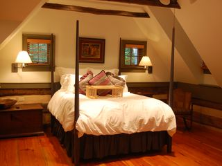 Thurmont house photo - Spacious MBR with beautiful bedding, lovely antiques, visually stunning!