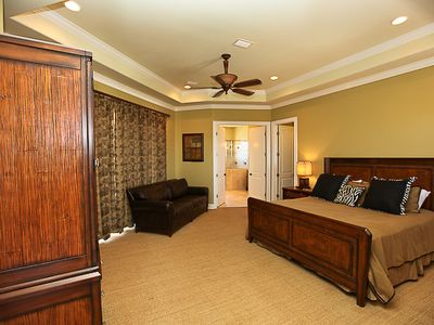Destin house rental - Huge third floor king master bedroom, private bath, sitting area, and balcony