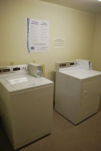 Laundry room with easy access!