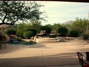 Scottsdale North house rental - Large, private backyard with mountain views