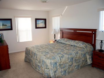 Master Suite 2 with king size bed - en-suite, three windows and TV/DVD player.