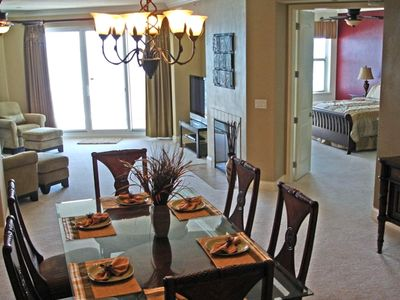 Dining Room and part of the Living Room and Master Bedroom