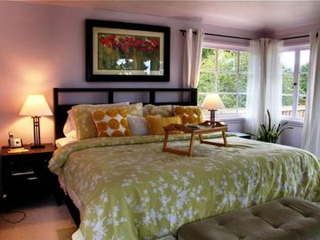 The Second of Two Bedrooms with Plush Beds and Luxurious Linens