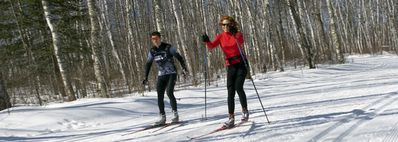 Miles of groomed cross country ski trails