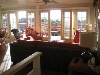Sunset Beach house photo - French Doors open to the lanai and the sunsets