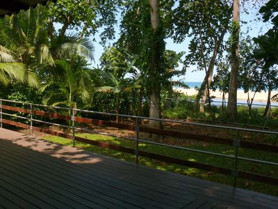 Decking with direct and exclusive views onto the beautiful Cocles beach.