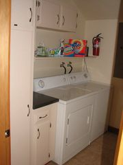 Port Ludlow house photo - Fully equipped laundry room with heavy-duty WD; iron and ironing board
