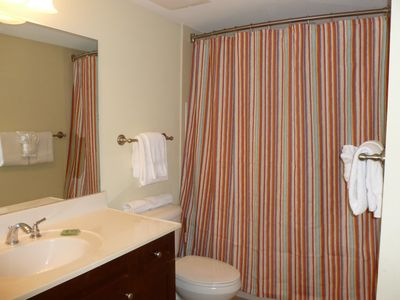 Large Guest Bathroom - Bathtub/shower combination.