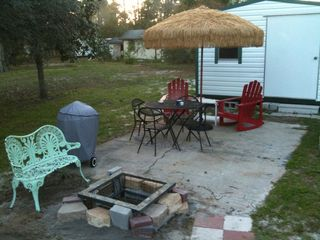 Mexico Beach mobile home photo - Spend a pleasant evening on the patio.