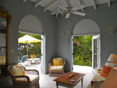 Indoor / outdoor living is a romantic and unique feature of the Caribbean.