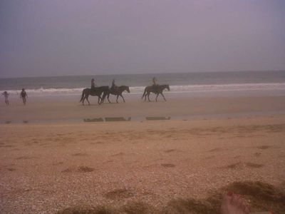Weekend horseback riding on Vilano at public beach 1 mile south