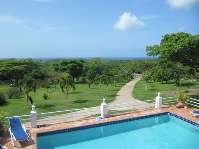 Vieques Island house rental - The grounds from upstairs.